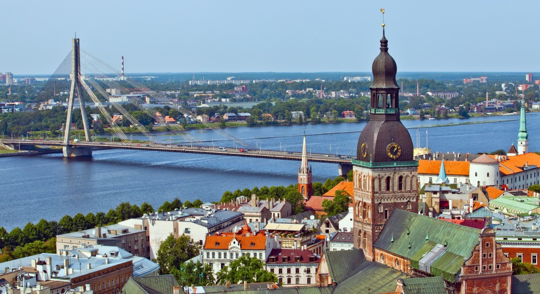 Panoramic View over Riga